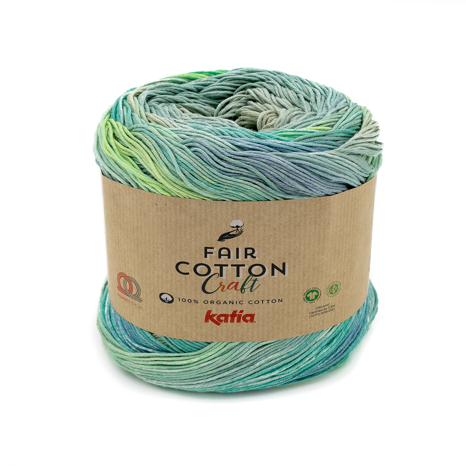 Fair Cotton CRAFT 600 Beige-mint green-lemon yellow-blue